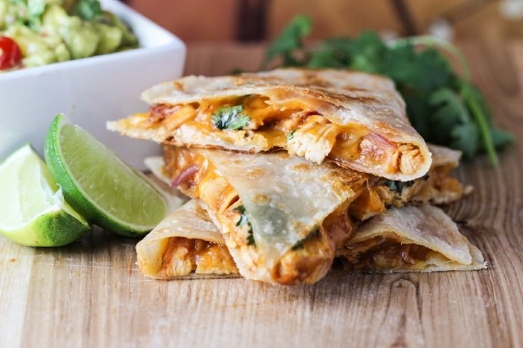 Pineapple BBQ Chicken Quesadillas | recipies | Pinterest