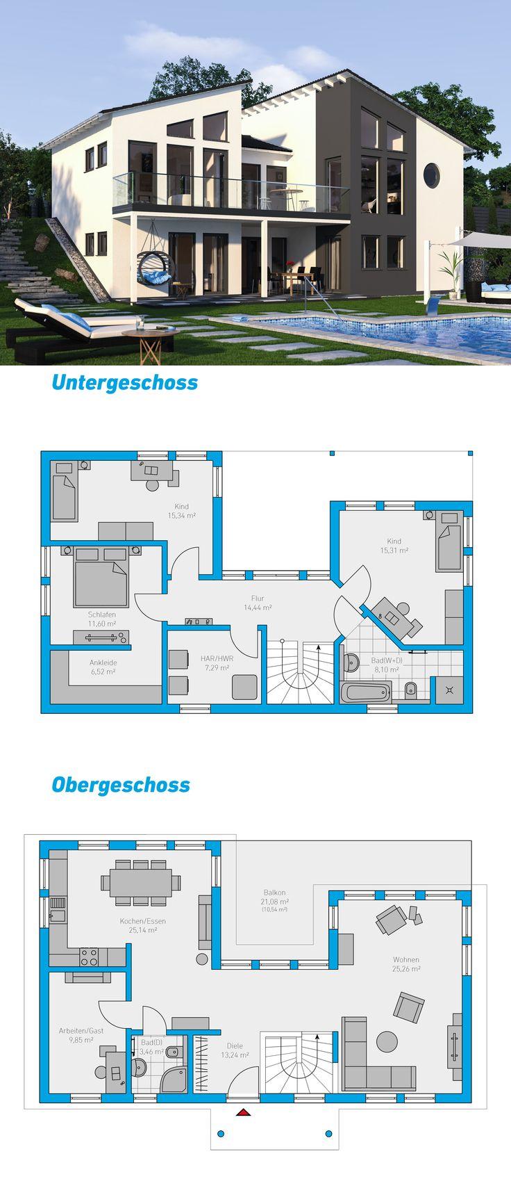 Montis 177 - schlüsselfertiges Massivhaus Hanghaus #spektralhaus #ingutenwänden #2geschossig #hanghaus #Grundriss #Hausbau #Massivhaus #Steinmassivhaus #Steinhaus #schlüsselfertig  #neubau #eigenheim #traumhaus #ausbauhaus