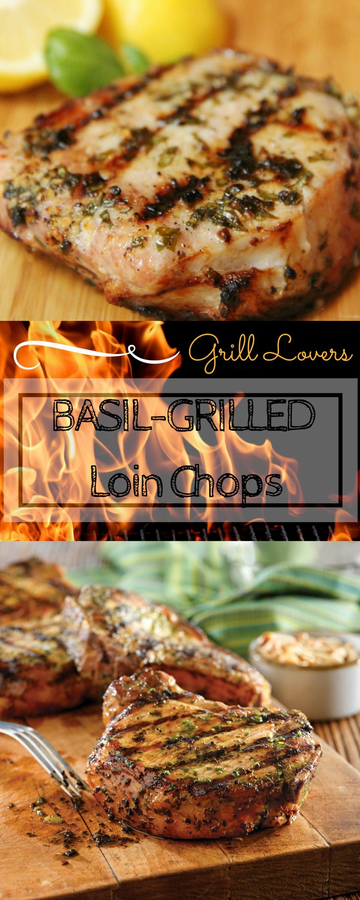Grill Lovers' Amazing Basil-Grilled Loin Chops Recipe   #recipes #foodporn #foodie