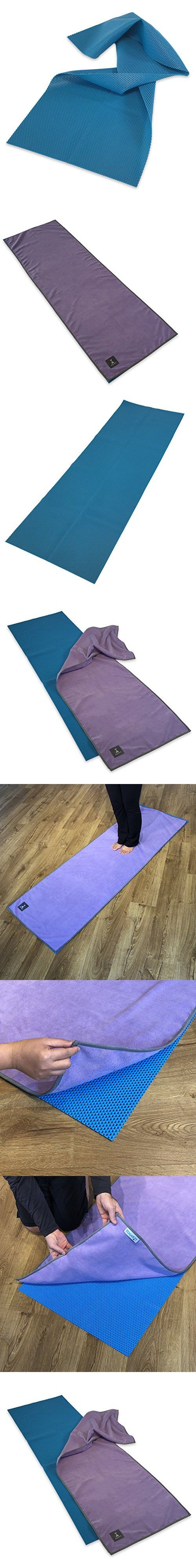 """Waffle Yoga Mat & Cush Yoga TowelSet - Foldable Yoga MatComes WithSuper Thick Yoga Mat Towel- For All Yoga Practices - Ideal for Hot Yoga -Great Travel Yoga Mat -24"""" x 72""""x 5mm"""