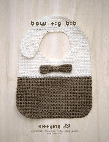 Bow Tie Bib Kittying Crochet PATTERN by kittying.com from mulu.us