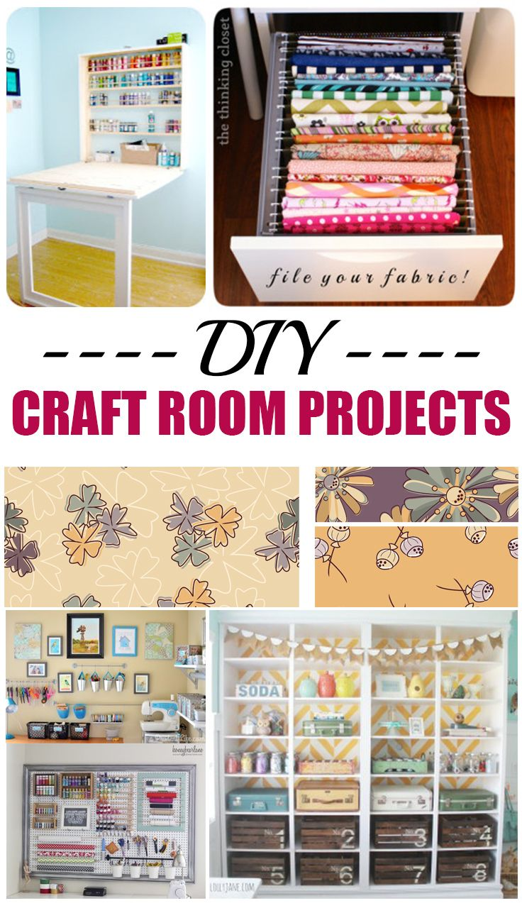 DIY Craft Room Projects, ideas and tutorials
