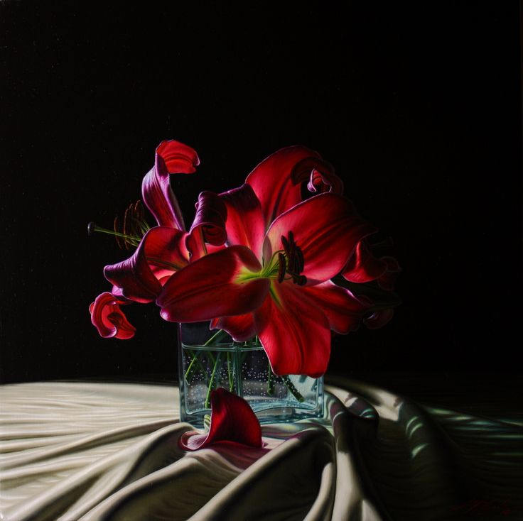 Gigli in controluce olio su tela 50 x 50  www.luigipellanda.it  #luigipellanda #flowers #painting