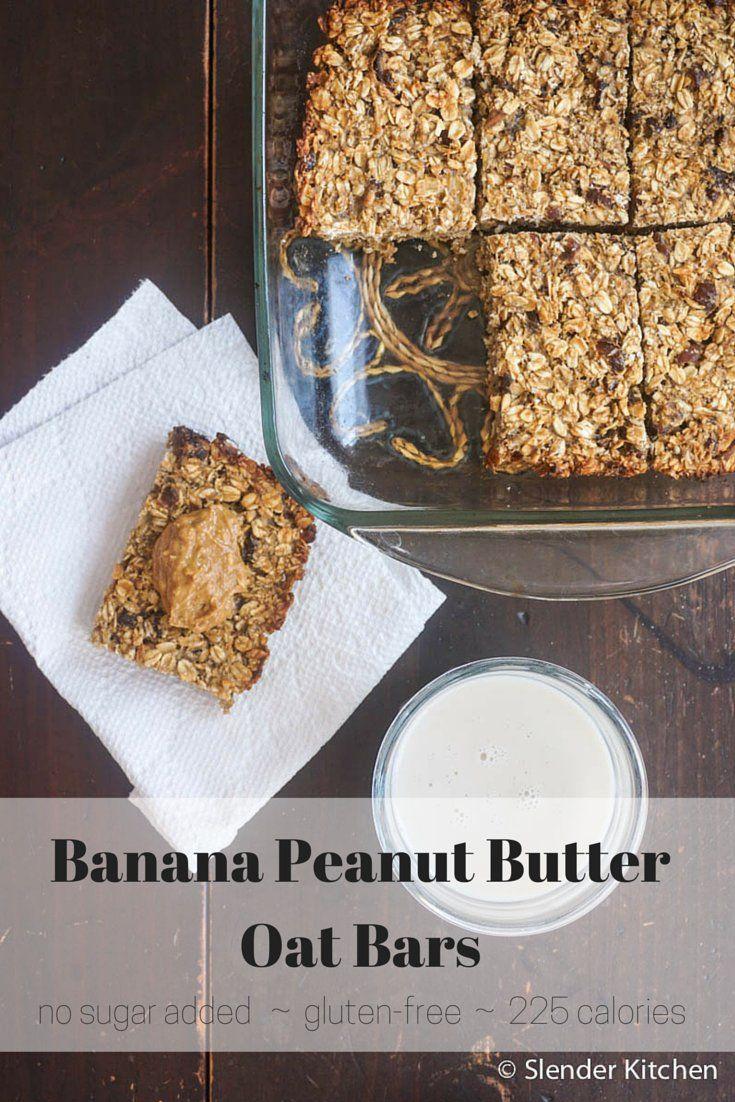 Gluten Free Banana Peanut Butter Oat Bars