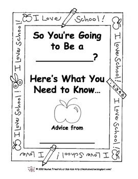 End of the Year Advice Book for your next year's class from THIS year's class.  GREAT idea!