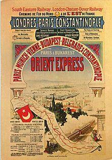TRAIN MYTHIQUE Orient-Express - train de luxe créé par la Compagnie Internationale des Wagons-Lits (CIWL) qui, depuis 1883, assure la liaison entre Paris (gare de Paris-Est), Vienne et Istanbul, desservant plusieurs capitales européennes.
