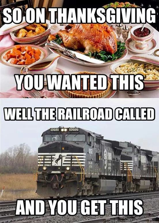 Never fails. Railroad Humor that's what happened this year :(