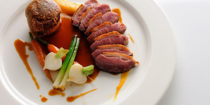 Top chef Andrew Mackenzie's recipe for pan roast duck comes served with baby vegetables and a cherry brandy sauce