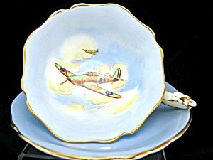 PARAGON PATRIOTIC SERIES  WWII CUP & SAUCER - hawker hurricane. Click the image for more information.: