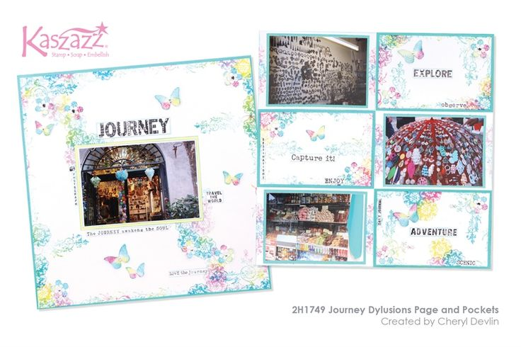 2H1749 Journey Dylusions Page and Pockets