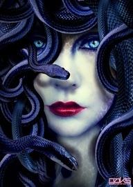 Medusa painting/mural idea for one of the walls in DR.