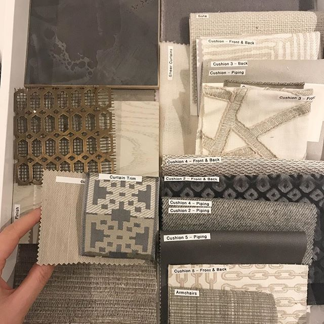 In the studio earlier today working on the tv room for a new penthouse project in London. #sophiepatersoninteriors #interiordesign #interiors #moodboard #behindthedesign #behindthescenes