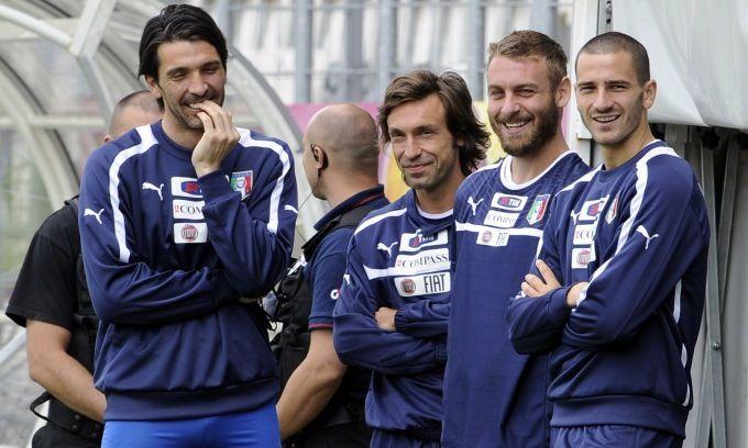 De Rossi, Pirlo and Buffon  Italy national football team