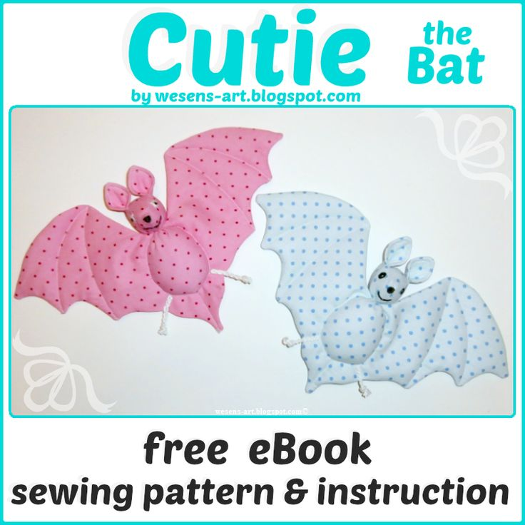Cutie the Bat  free eBook / sewing pattern & instruction