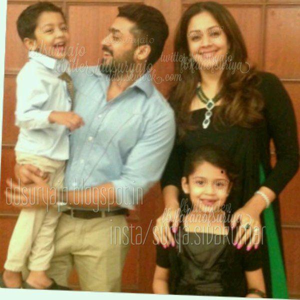 Suriya Jyothika Diya Dev Family Pic - Rare/Unseen