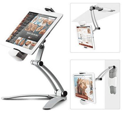Kitchen Tablet Mount Stand IKross 2 In 1 Kitchen Wall / CounterTop Desktop  Mount