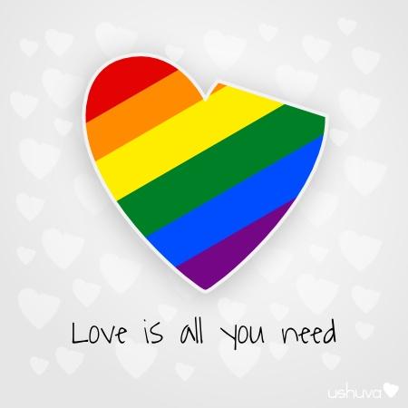 """Love is all you need - Lennon  """"Di NO a la homofobia""""."""