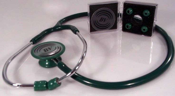 Stethoscope - Hunter Green with Matching Bling Chest-piece - Deluxe Lite #BVMedical