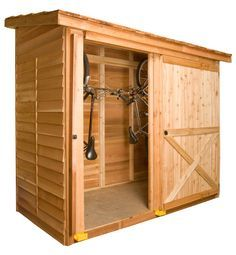 The Bayside shed makes great storage for 2 bicycles and fits in small spaces. cedarshed.com                                                                                                                                                      More