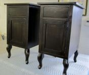 Night stands with Queen Anne legs finished in black milk paint