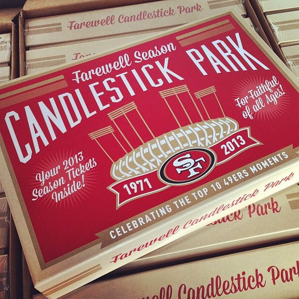 San Francisco 49ers season ticket holders were invited to Candlestick Park today to pick up their season ticket boxes, tour the locker and spend some time on the playing field with Sourdough Sam and t