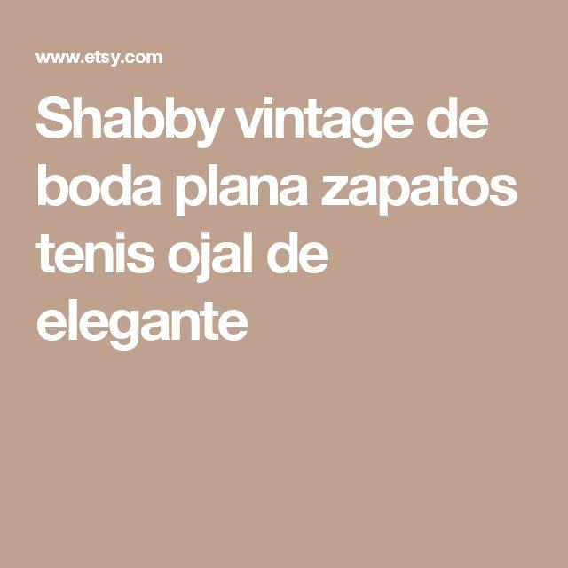 Shabby vintage de boda plana zapatos tenis  ojal de elegante