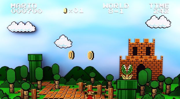 Mario Sky Clouds Wallpaper Hd Games 4k Wallpapers Images Photos And Background In 2021 Pixel Art Mario Mario Bros