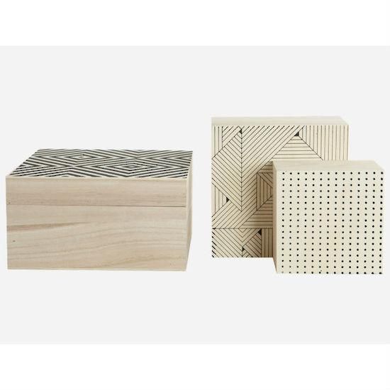 House Doctor storage boxes - set of 3