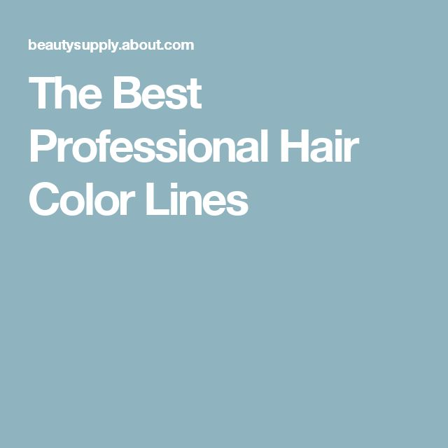 The Best Professional Hair Color Lines
