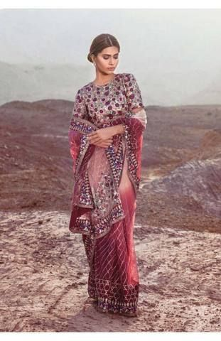 Mina Hassan Net Saaree, Ladies Replica Suit, Replica Shop Online