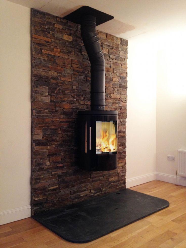 Hwam 3110 #KernowFires #Hwam #fireplace #woodburner #stove #cornwall #installation #wallhung #contemporary #kernowfires