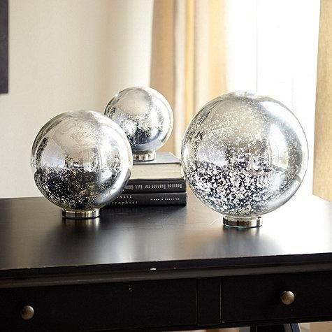 Mercury Glass Decorative Balls 56 Best Mercury Glass Images On Pinterest  Ballard Designs