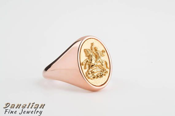 Etruscan, Byzantine and Christian medieval jewelry ring. Based and created on Knight Saint George / Demetrius killing the dragon. A wonderful templar ring created with fine techniques by #danelianjewelry and possible to be custom modified and personalized at your needs. #mensfashion #menswear #goldsmithing #custommade #jewelry #jewelrydesign #goldsmithing #trend2018 #mens2018