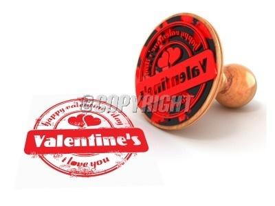 Stamp happy valentine's day