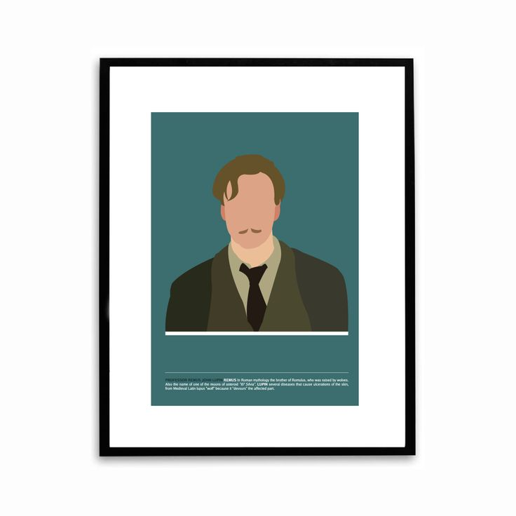 Remus Lupin Illutration poster based on Harry Potter