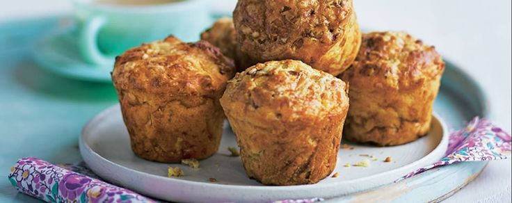 Leek, cheese & bacon muffins