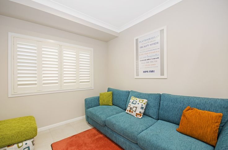 A stylish blockout option for any room in your home! Rivera PVC Shutters!  #blinds #shutters