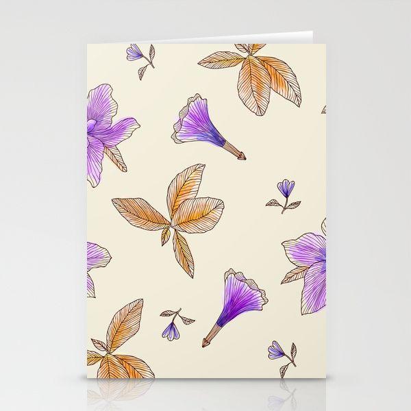 Spring Splash Floral Pattern Stationery Cards $12 #mystical #cards #print #floral #pattern #spring