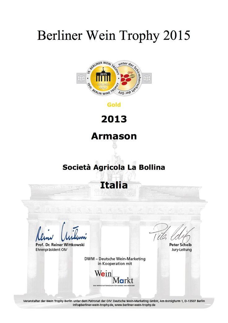 Gold Medal at #berliner wein trophy #armason#labollina