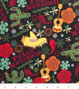 Holiday Inspirations Fabric-Feliz Navidad Glitter: holiday fabric: fabric: Shop   Joann.com