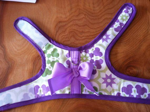 Lavanda y menta pequeño arnés del perro púrpura por CustomDogJacket