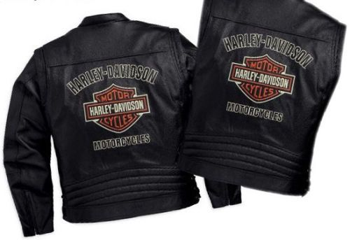 Harley-Davidson-Mens-Brawler-B-S-Convertible-Leather-Jacket-Vest-L-98001-11VM