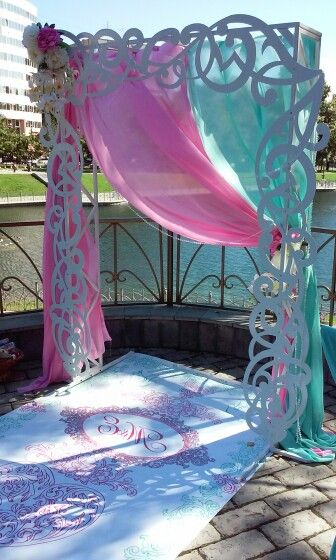 Мятно розовая свадьба, pink & mint wedding