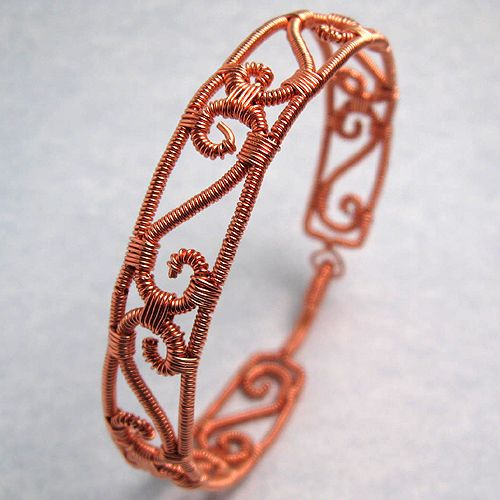 Copper Wire Wrapped Bracelet by sylva on deviantART