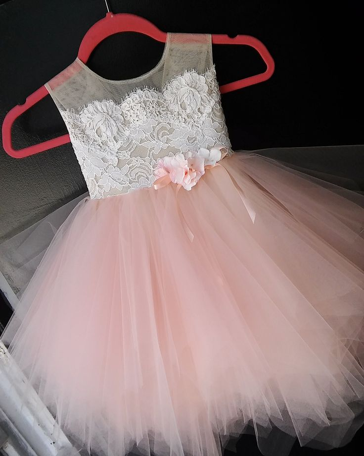 Blush #flowergirl #birthday girl dress . Available on Etsy.com Shop name somsicouture