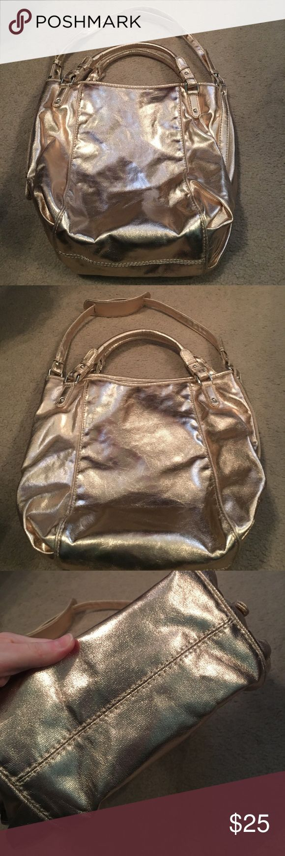 Big Gap Bag! Gold bag from Gap. Big enough to fit all the baby stuff or for a small trip! So cute! NWT. GAP Bags