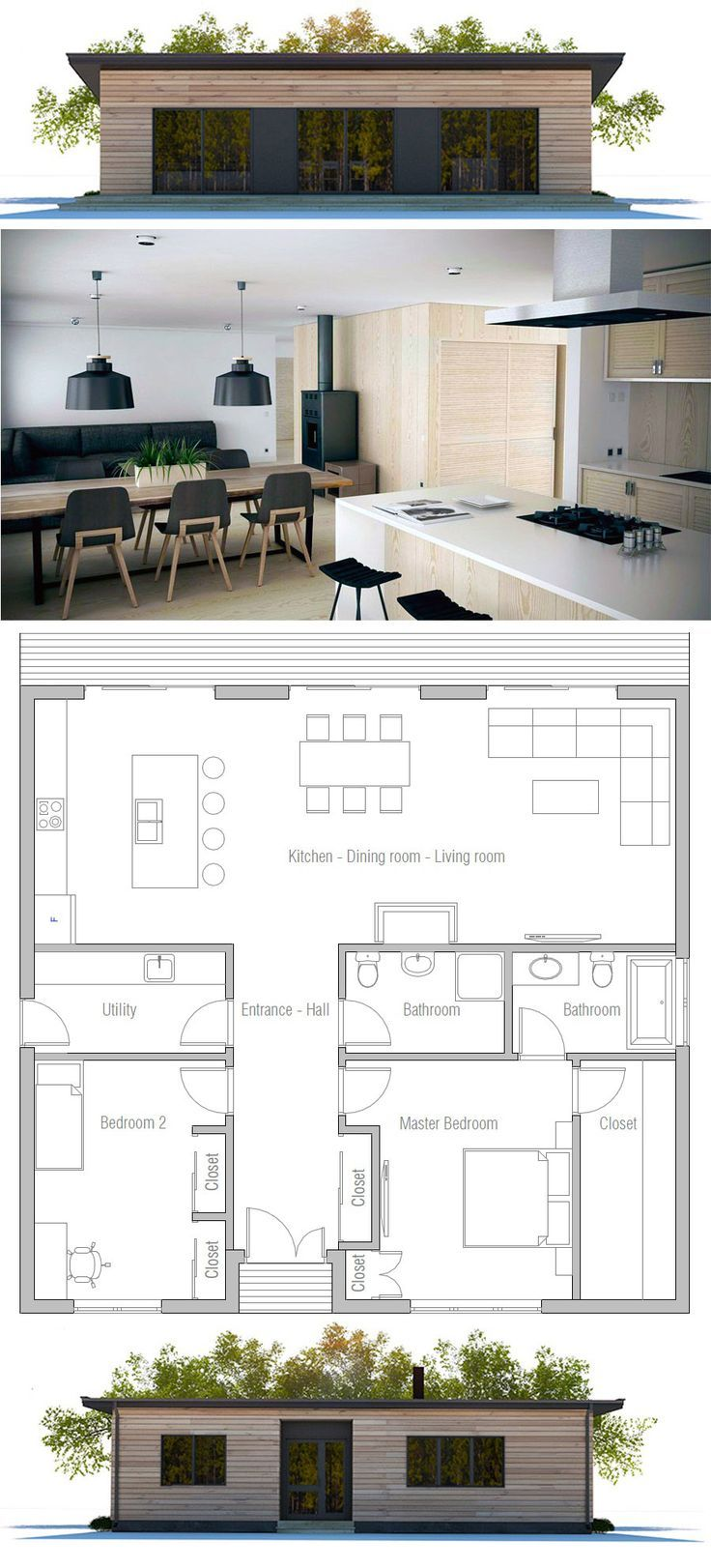Small House Plans Smallhouseplans Small House Plans Two Bedroom House Courtyard House Plans