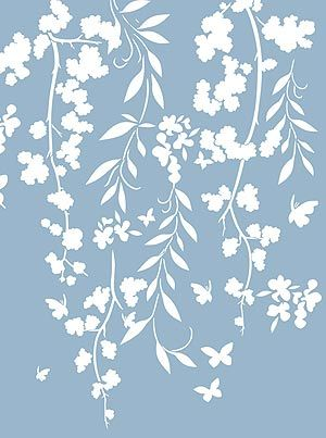 Blossom Stencils Blossom, Willow and Butterfly Silhouette Stencil .... Simply perfect for my girls. x