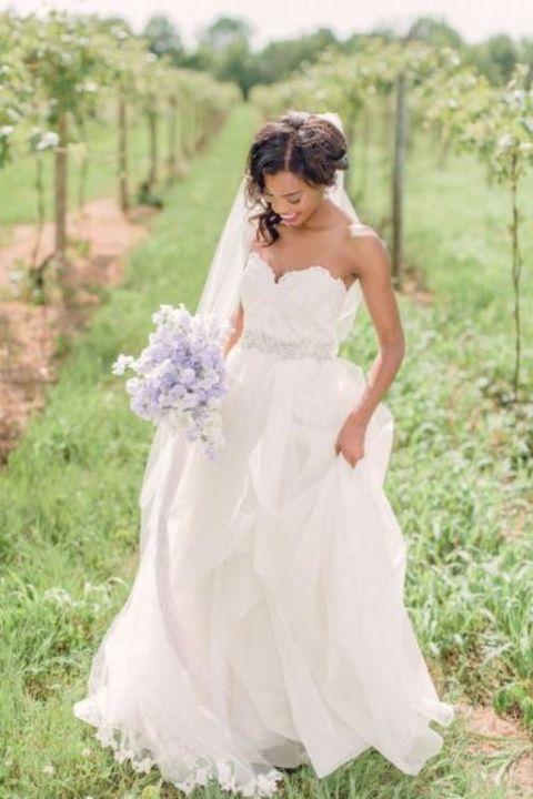 60 Jaw-Dropping Strapless Wedding Gowns | HappyWedd.com