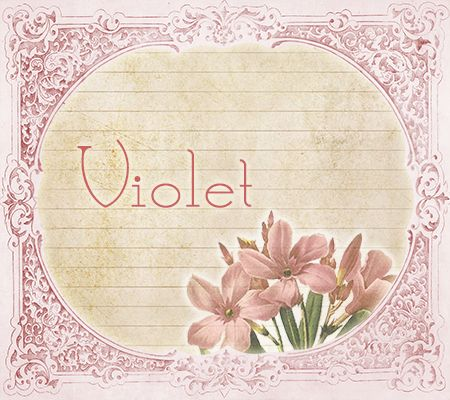 VIOLET ~ The Most Lovely Vintage Victorian Baby Names! | Disney Baby